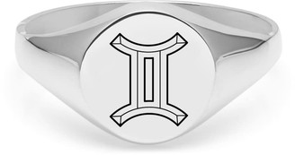 Myia Bonner Gemini Signet Ring In Sterling Silver
