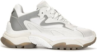 Ash Suede And Mesh Panel Chunky Platform Trainers