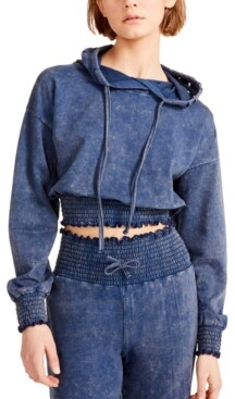Madden Girl Juniors' Distressed Cropped Hoodie