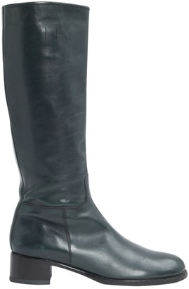 Prada \N Grey Leather Boots