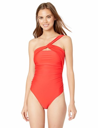 Rachel Roy Women's One Piece Swimsuit with Top Strap As Closure at Neck