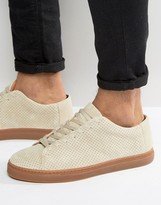 Selected David Perforated Suede Sneakers
