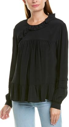 IRO Ruffled Silk-Blend Tunic