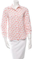 Alice + Olivia Printed Button-Up Top w/ Tags