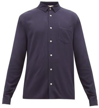 Séfr Hampus Crepe Shirt - Mens - Navy