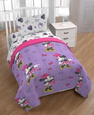 Disney Minnie Mouse Purple Love Full 5-Pc. Bed in a Bag Bedding