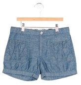Burberry Girls' Chambray Mini Shorts w/ Tags