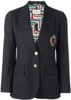Gucci embroidered single breasted jacket - women - Silk/Cotton/Viscose/Wool - 40