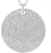 Monica Vinader Ava Large Disc Pendant - Diamond