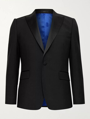 Paul Smith Soho Slim-Fit Satin-Trimmed Wool And Mohair-Blend Tuxedo Jacket