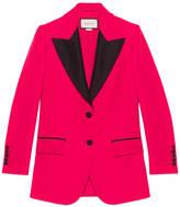 Gucci Wool silk contrast jacket