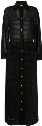 LANVIN Pre-Owned Semi-Sheer Shirt Dress