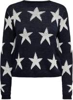 Only Star-Print Boatneck Sweater