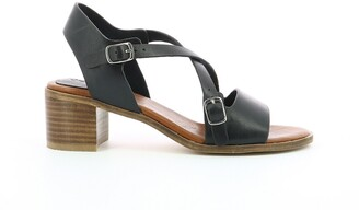 Kickers Volubilis Leather Sandals with Block Heel