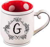 "Home Essentials Monogram ""G"" Mug"
