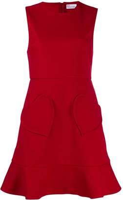 RED Valentino heart pocket mini dress