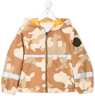 Moncler Enfant Camouflage Print Jacket