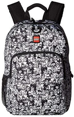 Lego Minifigure Color-Me Heritage Classic Backpack (Black/White) Backpack Bags