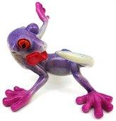 Private Label Cute `Chasing Tail` Purple Gecko Figurine Lizard