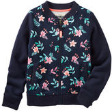 Osh Kosh Floral French Terry Bomber Jacket