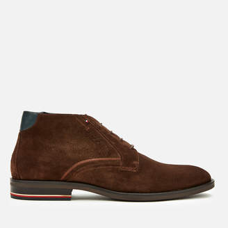 Tommy Hilfiger Tommy Men's Signature Suede Desert Boots - Coffee Bean