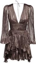 Thumbnail for your product : Maria Lucia Hohan Dania Metallic Silk Mini Dress
