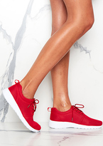 Missy Empire Megan Hot Red Lace Up Trainers