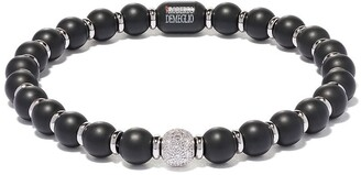 Roberto Demeglio 18kt white gold, black ceramic and diamond Sfera bracelet