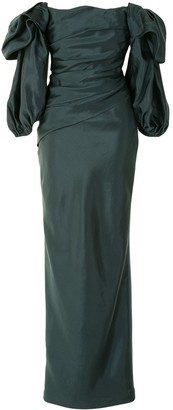 Rachel Gilbert Ginny draped gown