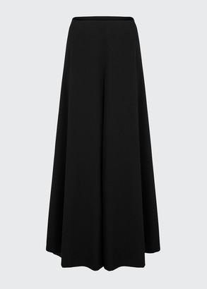 Alaia Grain De Poudre Wool Maxi Skirt