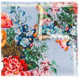 Gucci Tian print scarf - women - Wool - One Size