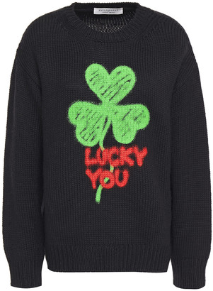 Philosophy di Lorenzo Serafini Printed Wool-blend Sweater