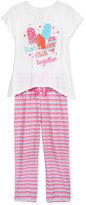 Max & Olivia 2-Pc. Besties Stick Together Pajama Set, Big Girls (7-16)