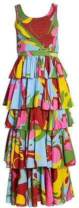 Rhode Resort Naomi Swirl-Print Dress