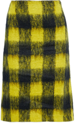 Maison Margiela Checked Mohair-blend Skirt
