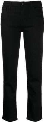 J Brand cropped straight leg jeans