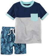 Carter's 2-Pc. Cotton Colorblocked T-Shirt & Shorts Set, Baby Boys (0-24 months)