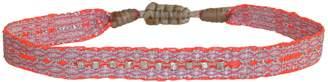 LeJu London Pink Handwoven Bracelet With Sterling Silver Faceted Beads Details