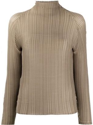 Issey Miyake Plisse T-Shirt Long Sleeved