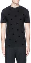 McQ Swallow velvet flock print T-shirt