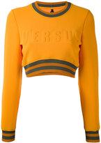 Versus cropped logo sweatshirt - women - Polyamide/Polyester/Spandex/Elastane - XS