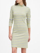 Banana Republic Turtleneck Ribbed-Knit Dress with Zipper