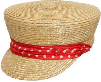 Maison Michel Abby Raffia & Silk Hat
