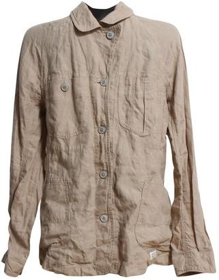 Aigle Beige Linen Jacket for Women