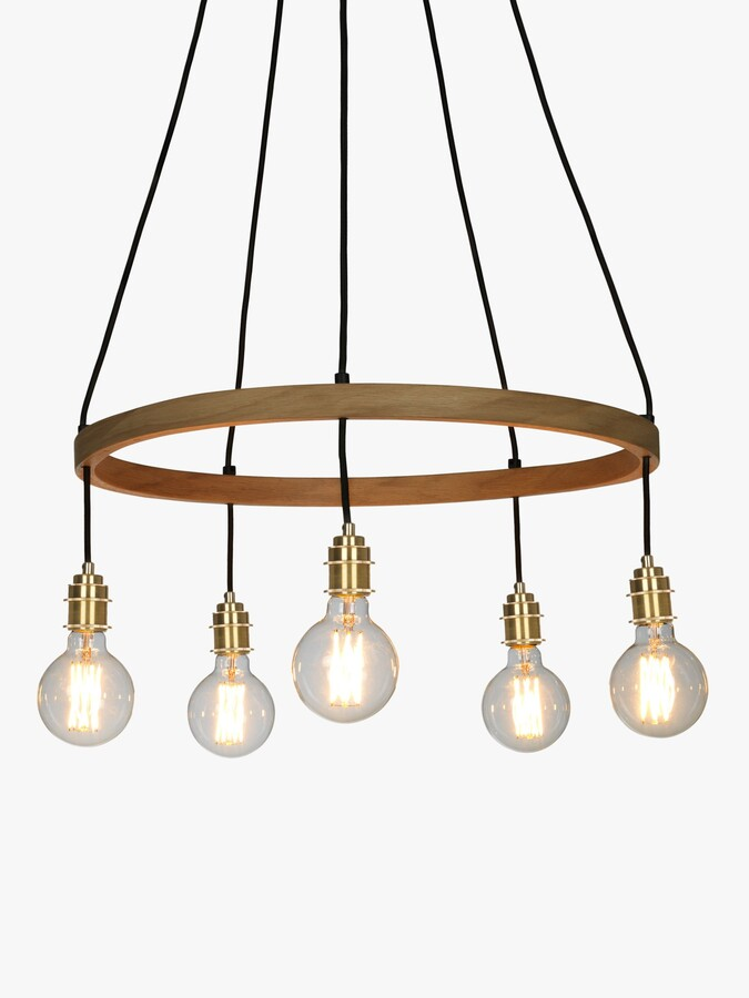 Thumbnail for your product : Tom Raffield Kern Small Pendant Ceiling Light, Solid Oak