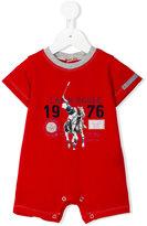 Lapin House - logo print overall - kids - Cotton/Spandex/Elastane - 3 mth