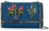 Stella McCartney Western embroidered denim Falabella shoulder bag - women - Cotton/Metal (Other) - One Size