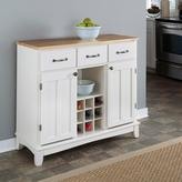 Home Styles Three-Drawer 41.75 in. W White Buffet with Wood Top