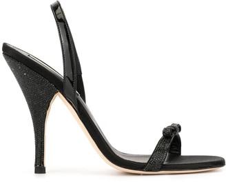Marco De Vincenzo Embellished Bow Detail Sandals