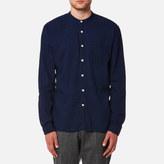 Oliver Spencer Men's Grandad Shirt Kildale Indigo Rinse
